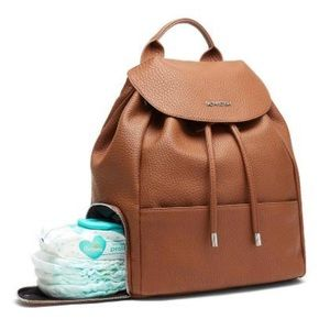 Fact and Fiction tan/brown diaper or gym bag